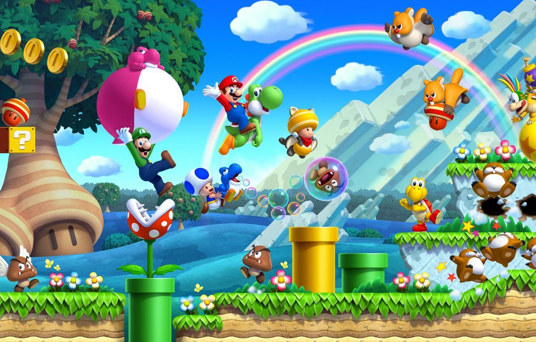 Photo Wallpaper Game, Mario, Nintendo, Super Mario, - New Super Mario Bros U - HD Wallpaper