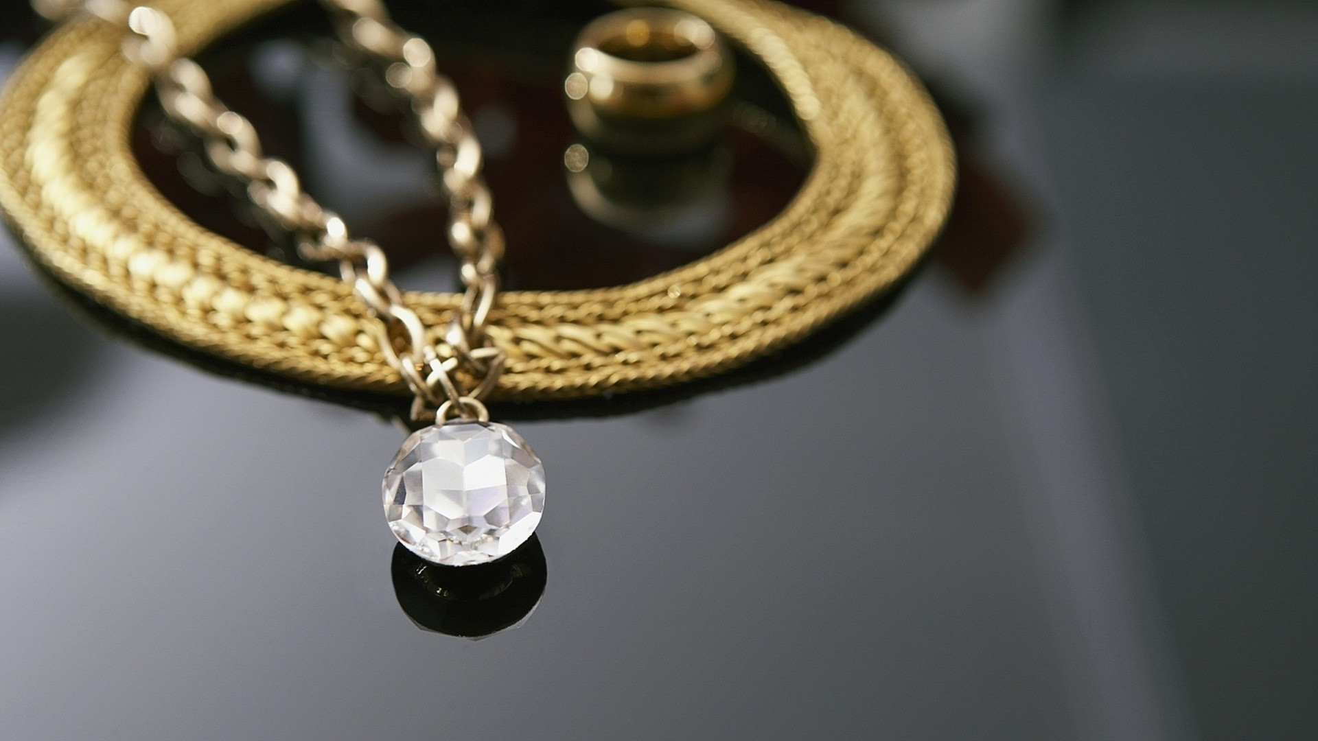 1920x1080, Gold And Diamond Necklaces Set Jewellery - Gold Necklace Background Images Hd - HD Wallpaper