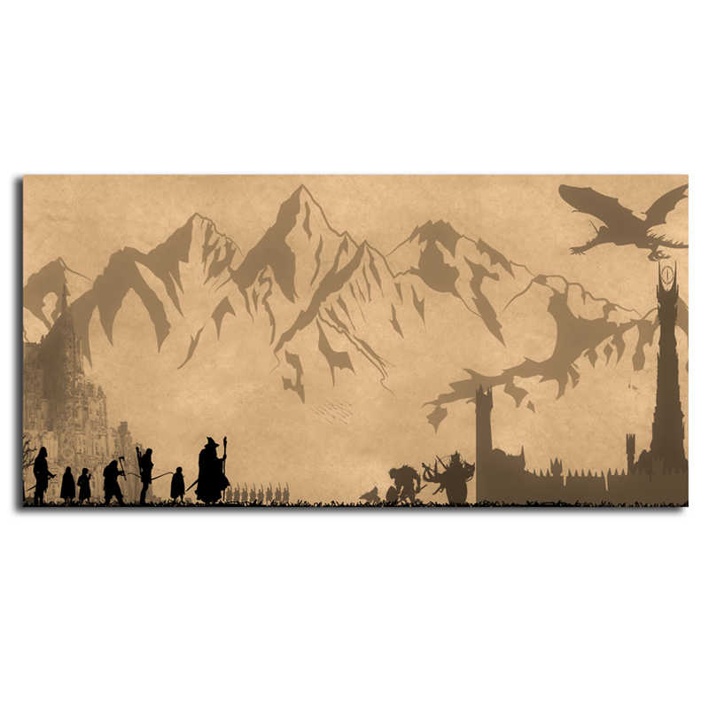 The Lord Of The Rings Wallpaper Lotr Wall Art Canvas - Lord Of The Rings Wall - HD Wallpaper