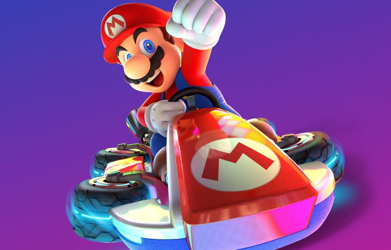 Photo Wallpaper Game, Mario, Man, Nintendo, Mario Kart - Deluxe Mario Karts 8 - HD Wallpaper