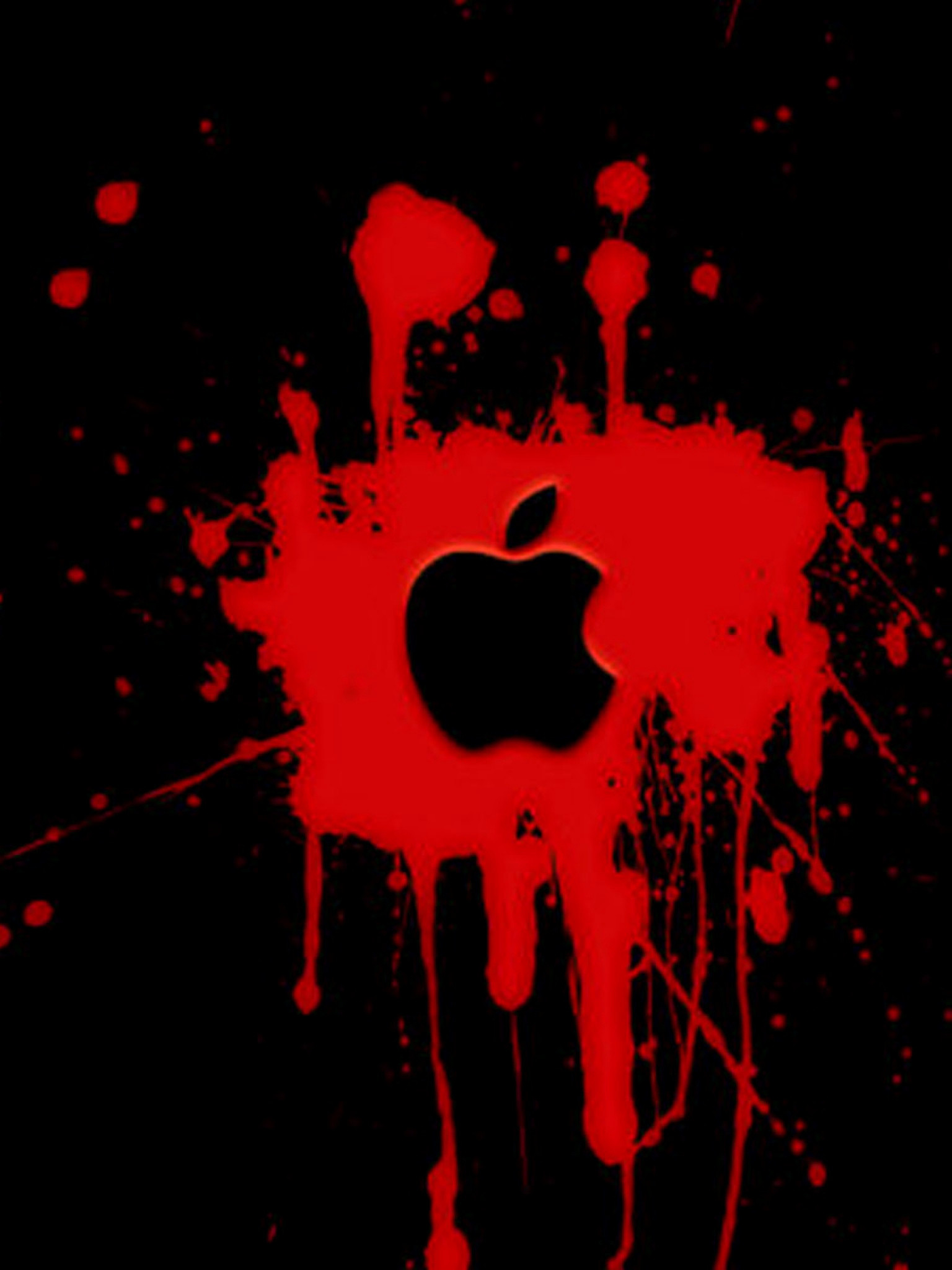 Black And Red Apple Wallpapers Apple Red Logo Hd Wallpaper For Iphone 6 1536x2048 Wallpaper Teahub Io