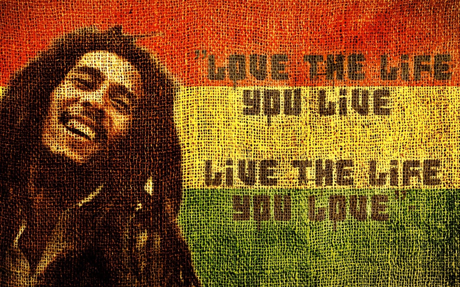 Bob Marley Love The Life You Live 3248 Wallpaper - Bob Marley - HD Wallpaper