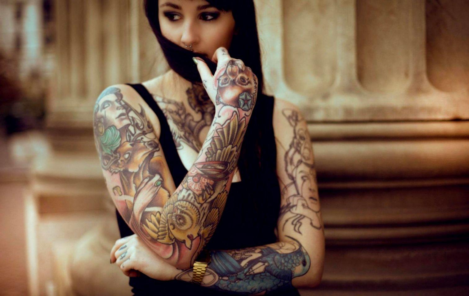 Best Of Tattooed Girl Wallpaper Full Hd Pictures - Tattoo Girls Wallpaper Hd - HD Wallpaper