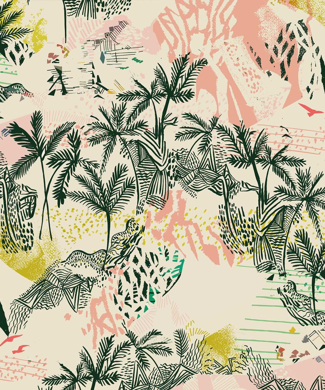 Palm Tree Design - HD Wallpaper