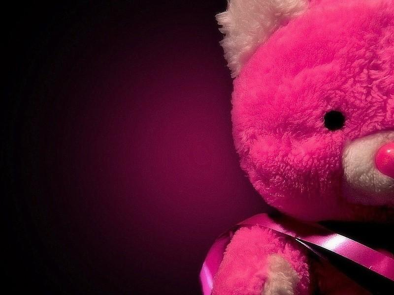 Pink Love Teddy Bear Wallpaper - Girly Hd Wallpapers For Desktop - HD Wallpaper