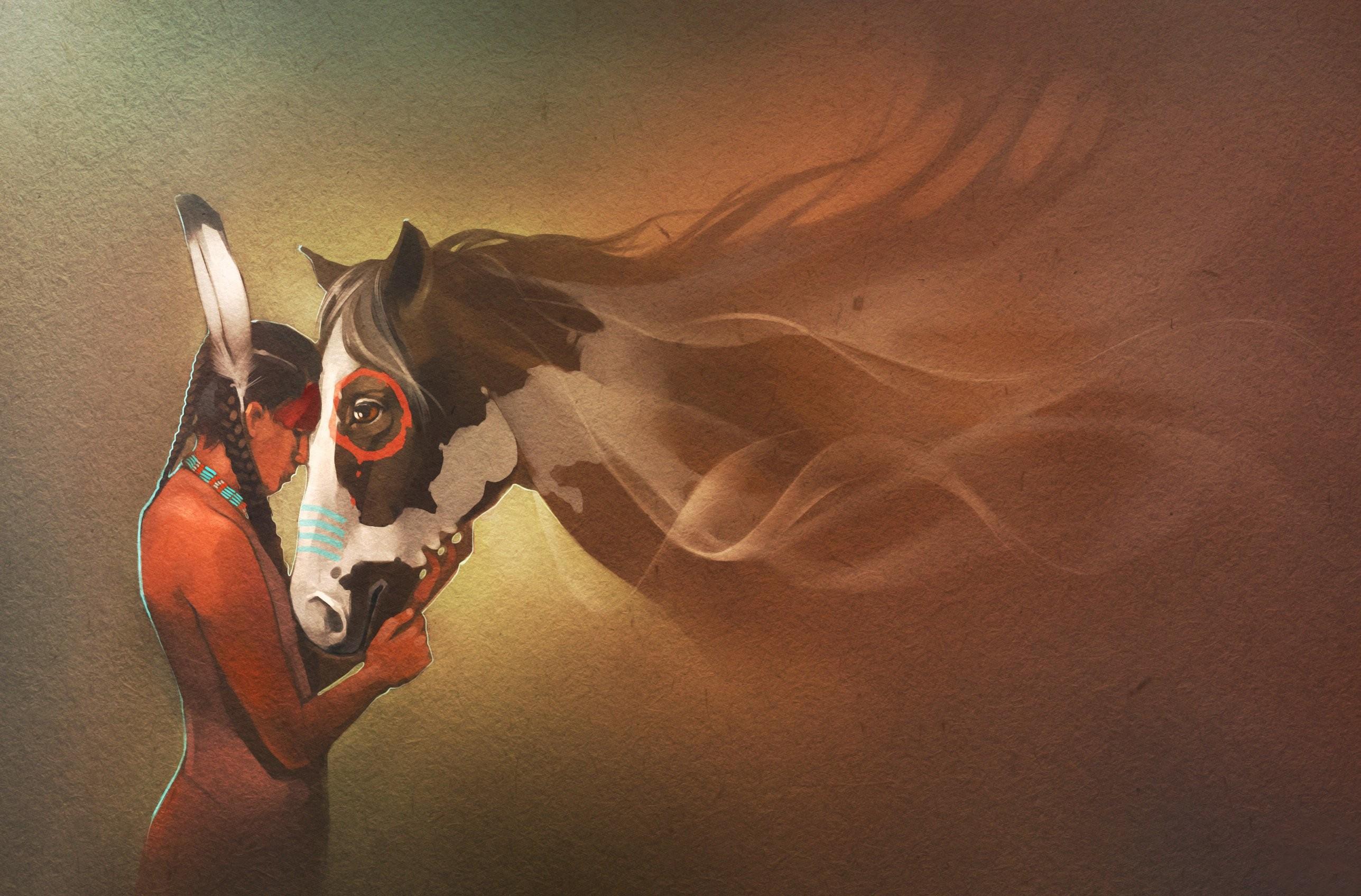 Horses Indian Animals Mood Western Nativew Horse Wallpaper Native American Wallpaper Art 2575x1696 Wallpaper Teahub Io