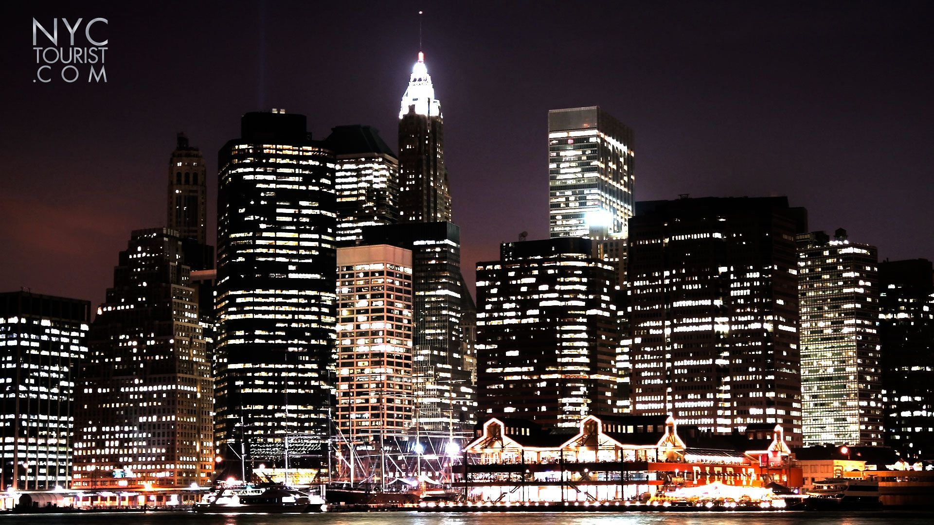 New York City Wallpaper At Night 1920x1080 Wallpaper Teahub Io