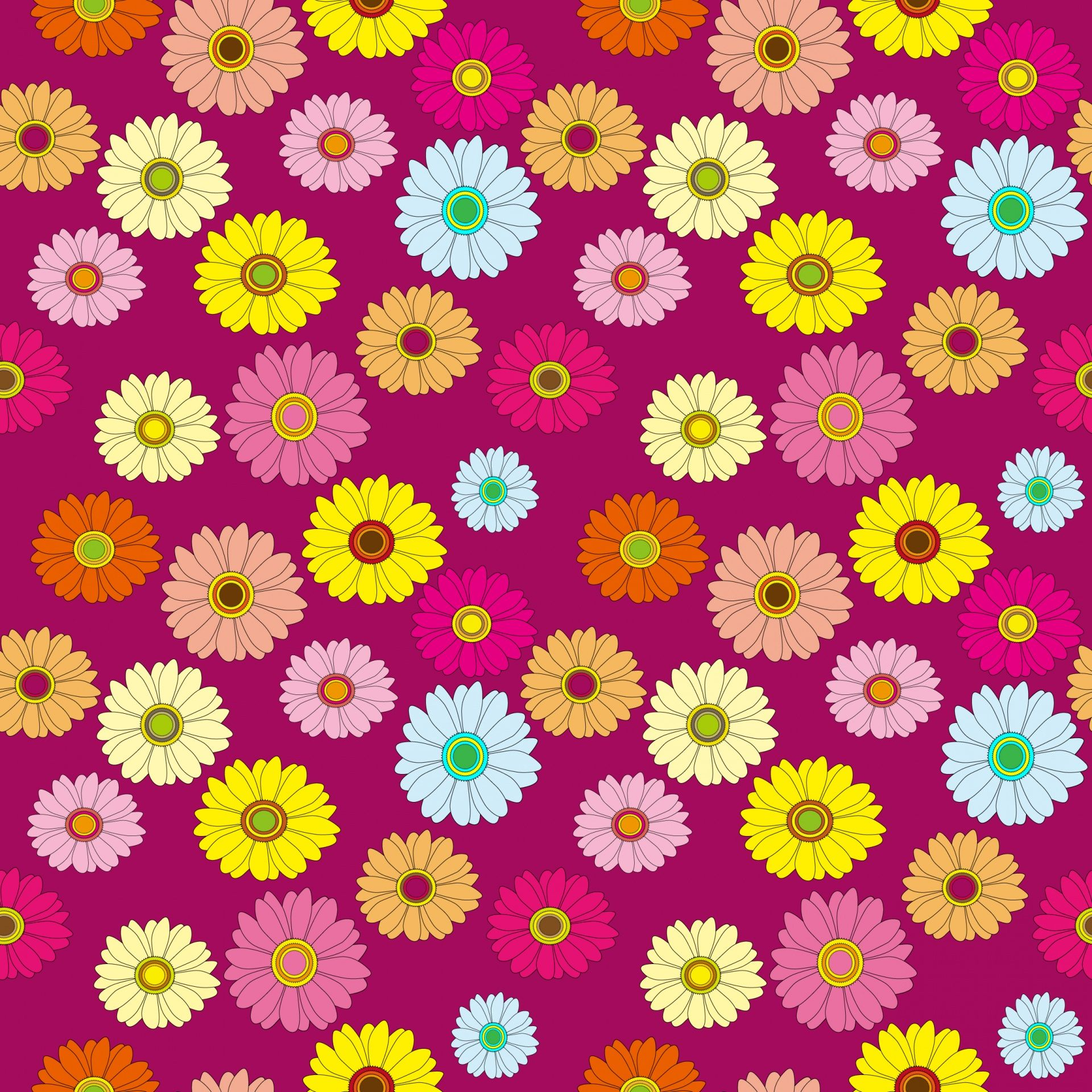 Floral Pattern Colorful Wallpaper Free Stock Photo - Design Colorful Wallpaper Background - HD Wallpaper