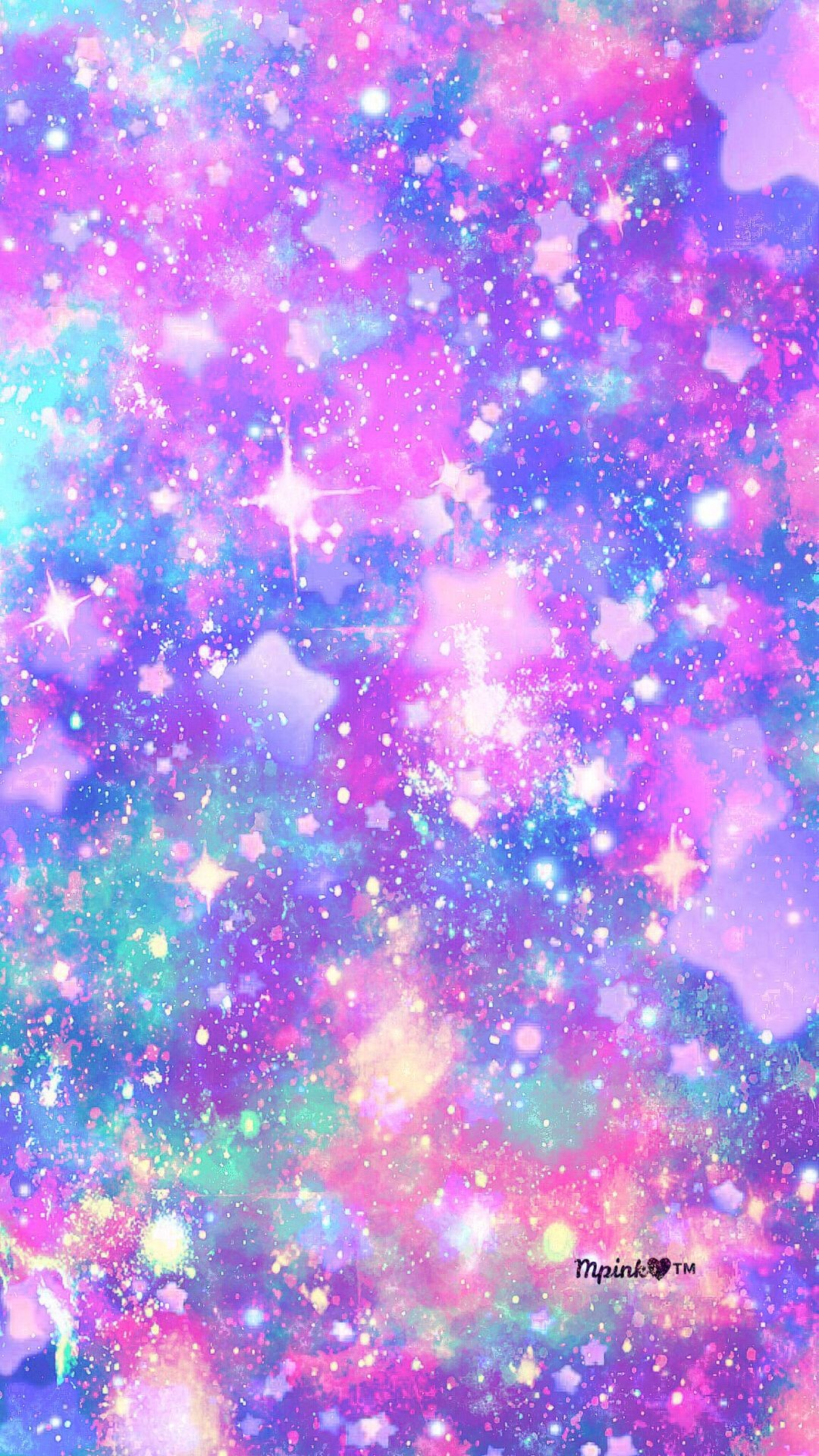 Cute Colorful Backgrounds Blue Purple Pastel Galaxy 736x1308 Wallpaper Teahub Io