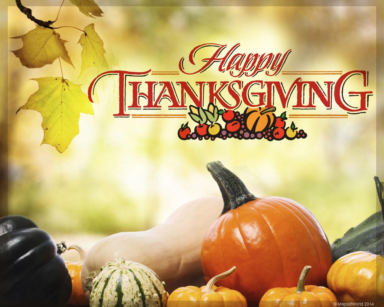 Happy Thanksgiving Message - HD Wallpaper