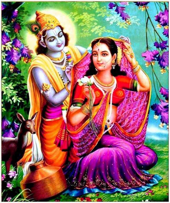 Whatsapp Dp 3d Wallpaper Shri New Radha Android Mobile - Shri Radha Krishna Paintings - HD Wallpaper
