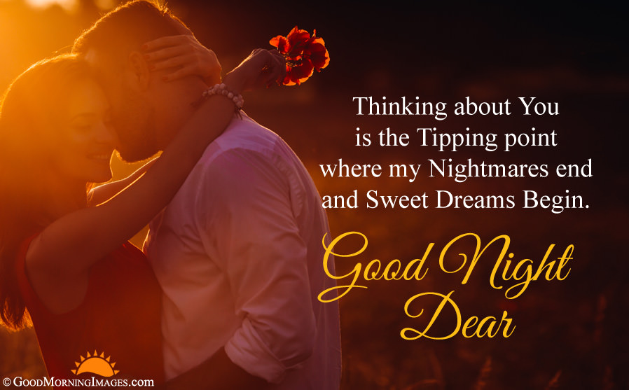 Good Night Love Quote With Romantic Couple Hd Wallpaper - Good Morning Quotes For My Love - HD Wallpaper
