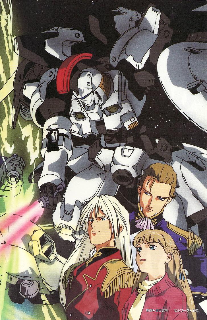 Anime, Mobile Suit Gundam Wing, Representation, Art - Mobile Suit Gundam Wing - HD Wallpaper