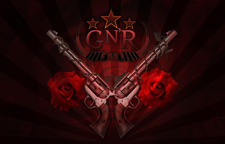 Photo Wallpaper Trunks, Roses, Logo, Rock, Guns N - Logo Guns N Roses -  1332x850 Wallpaper - teahub.io