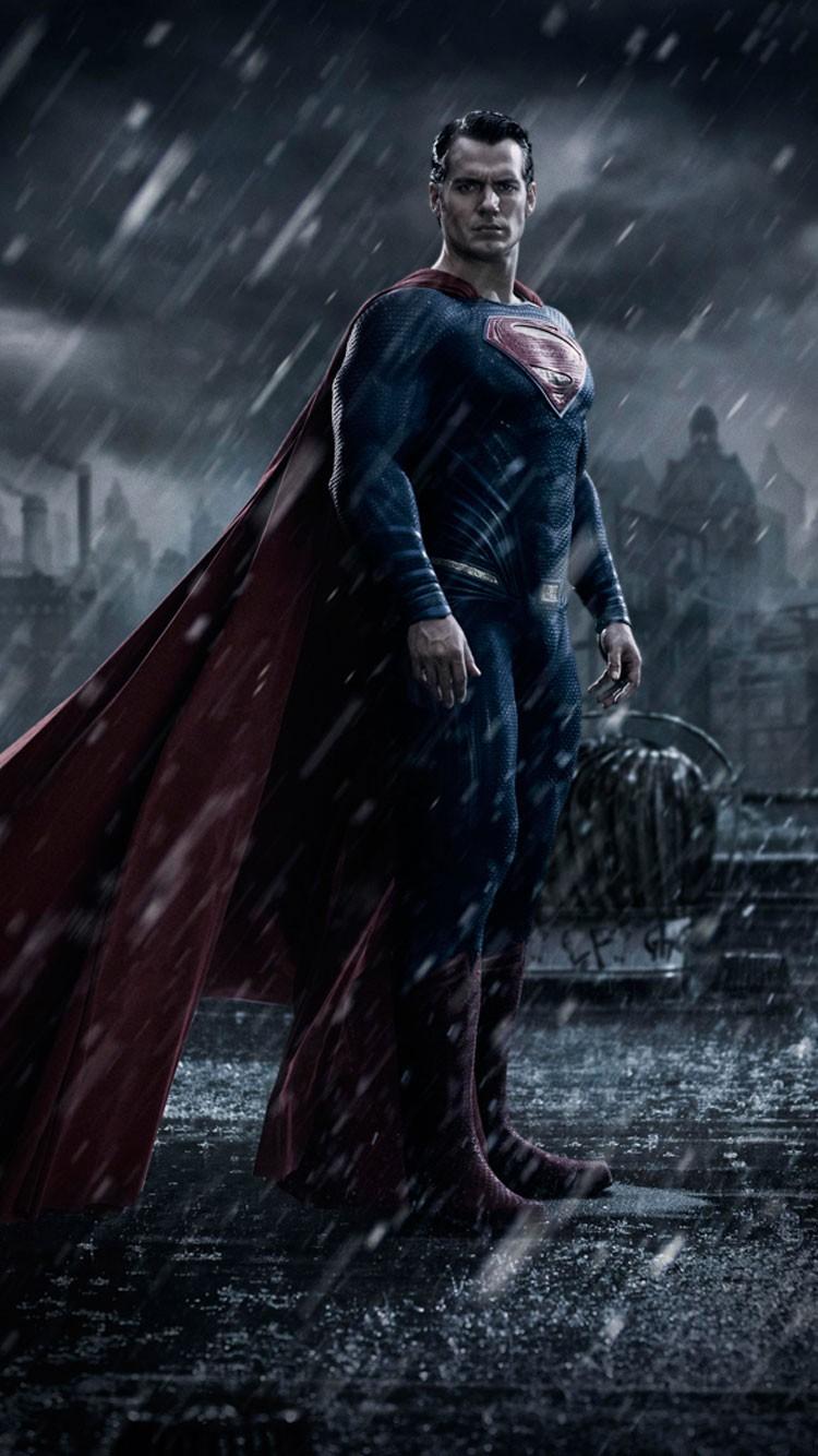 Superman Iphone Wallpaper , Hd Movie Wallpapers, Dc - Superman In Batman Vs Superman - HD Wallpaper