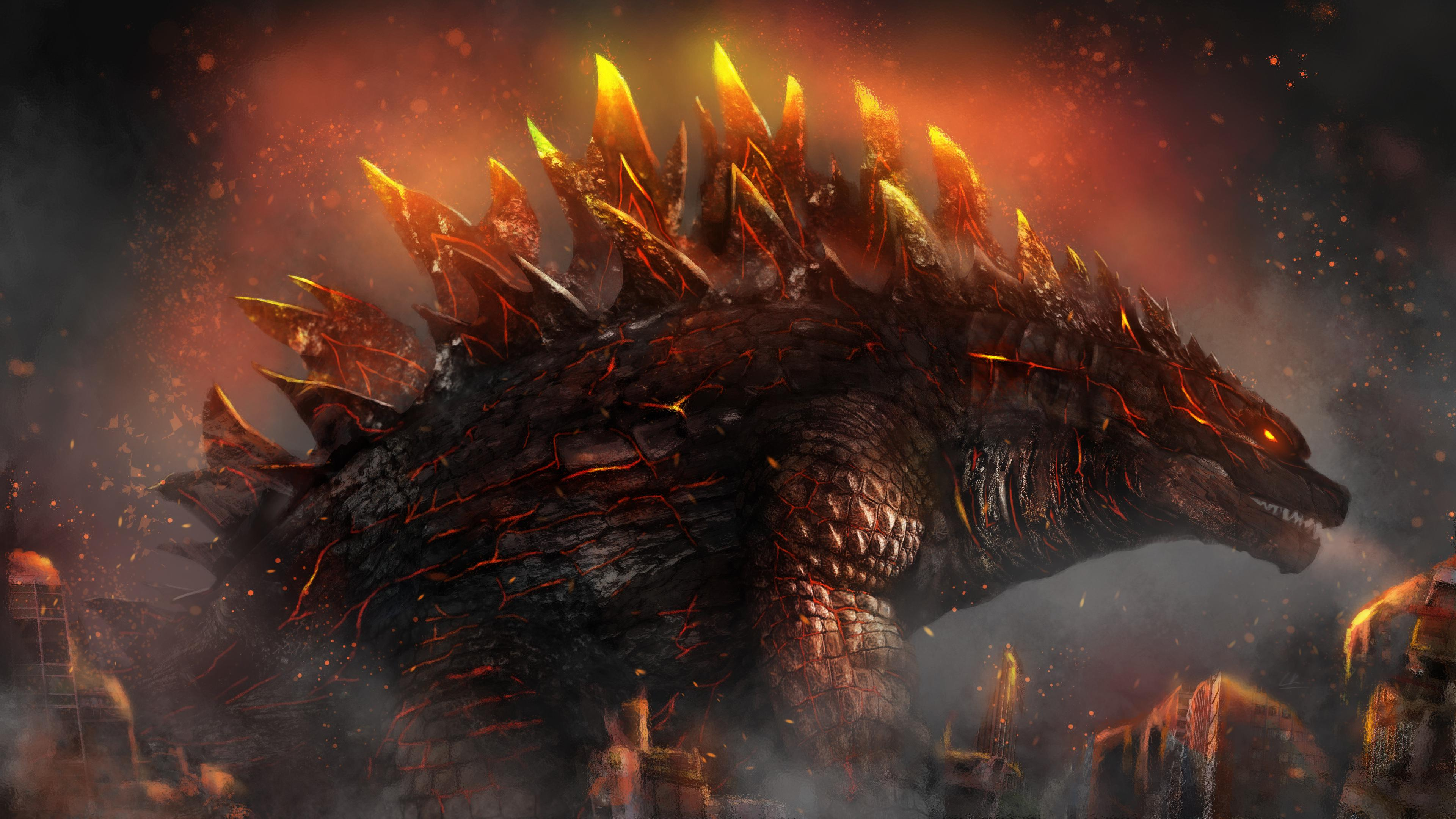 Godzilla Wallpaper 4k 3840x2160 Wallpaper Teahub Io