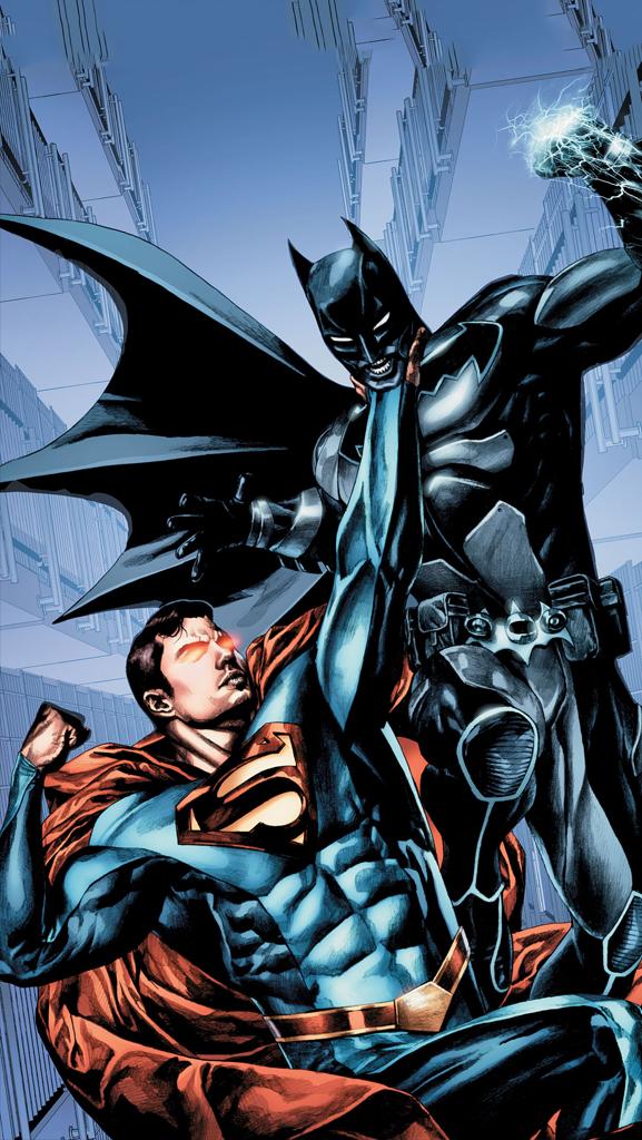 Download Batman V Superman Iphone Wallpaper - Smallville Season 11 Comic Batman - HD Wallpaper