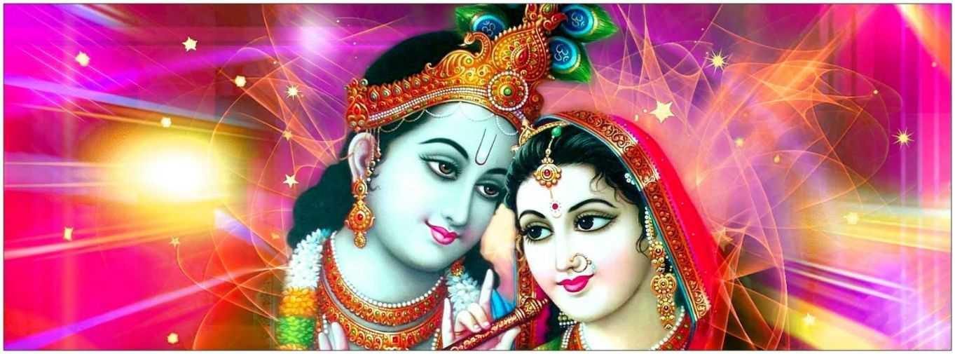 Wallpaper Shri Love Radha Desktop Krishna Full Hd 1080p - Radha Radha Krishna Thakur - HD Wallpaper