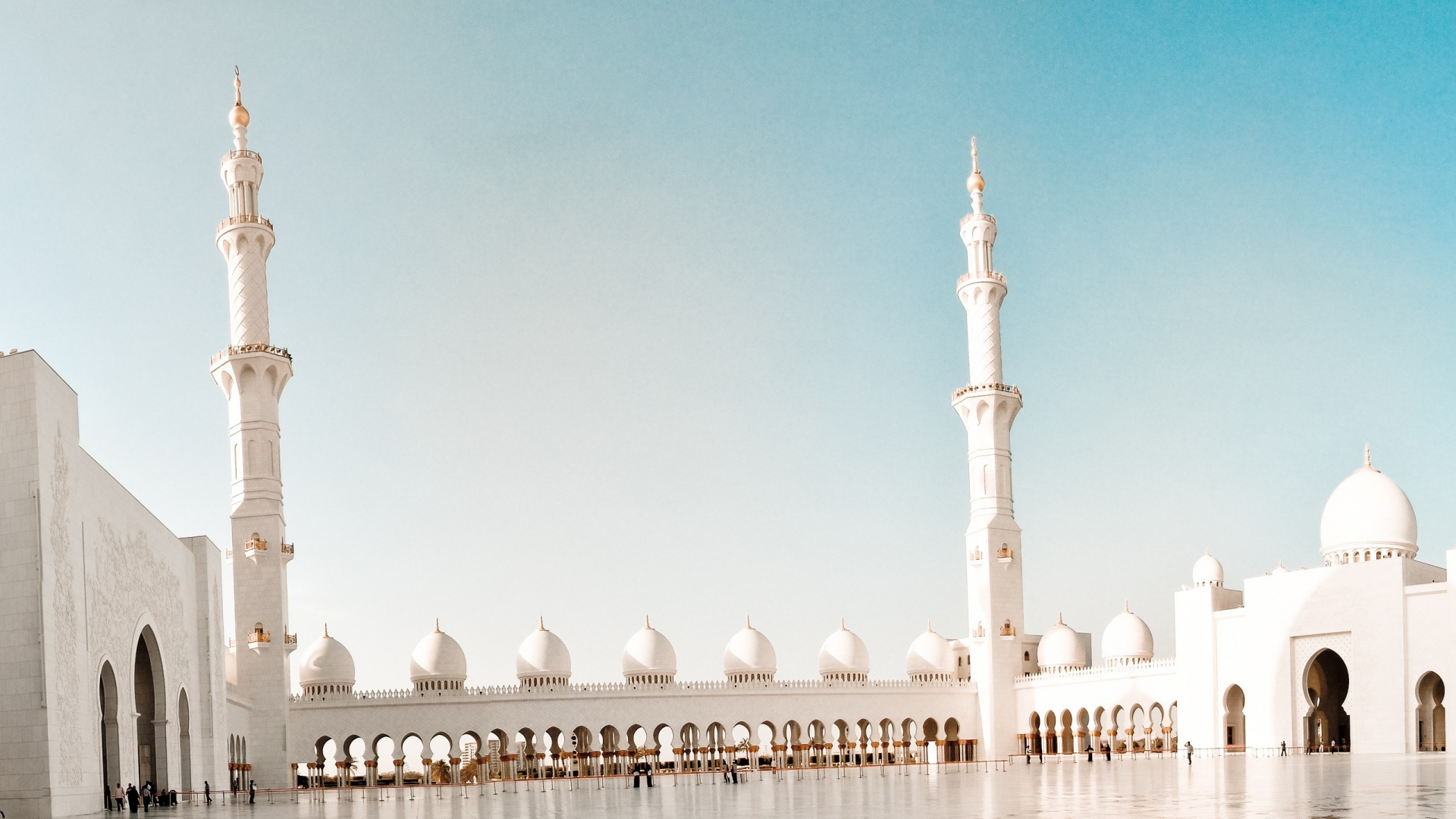 Mosque, White Stone, Weather, Architecture Full Hd - Worldly Life Islamic Quotes - HD Wallpaper