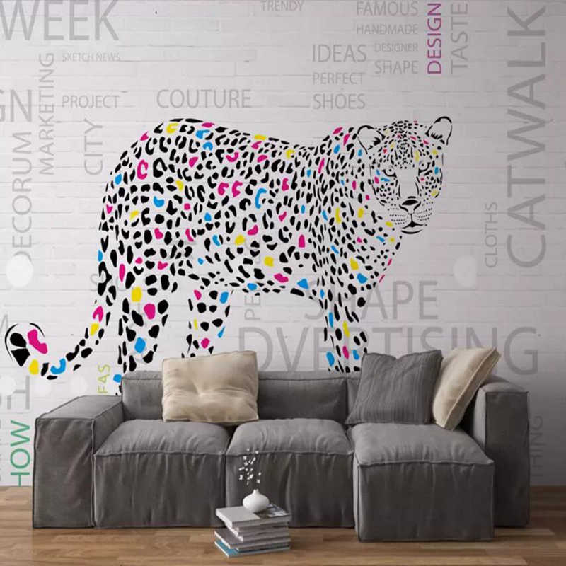 Wallpapers Youman Hand Painted Leopard Animal Wallpaper - Modern Wallpapers For Kitchen - HD Wallpaper