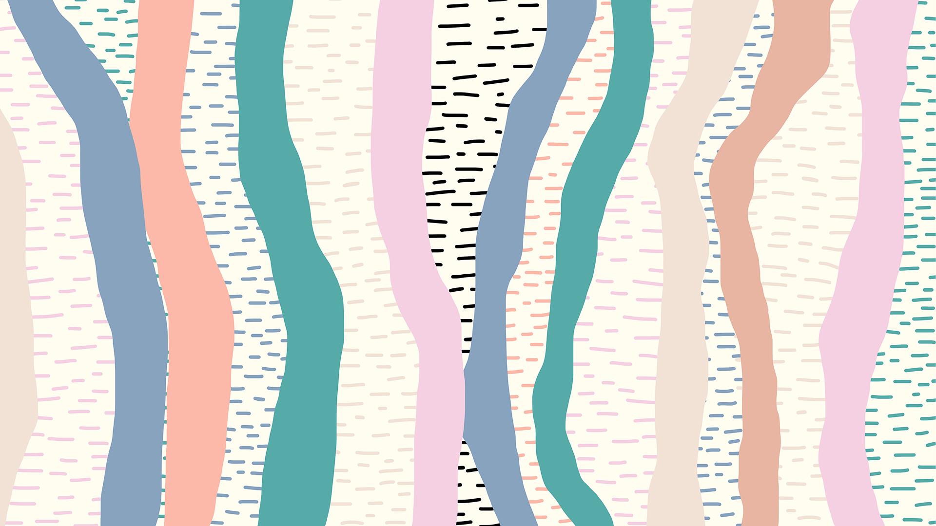 Geometric Pastel Patterns - HD Wallpaper