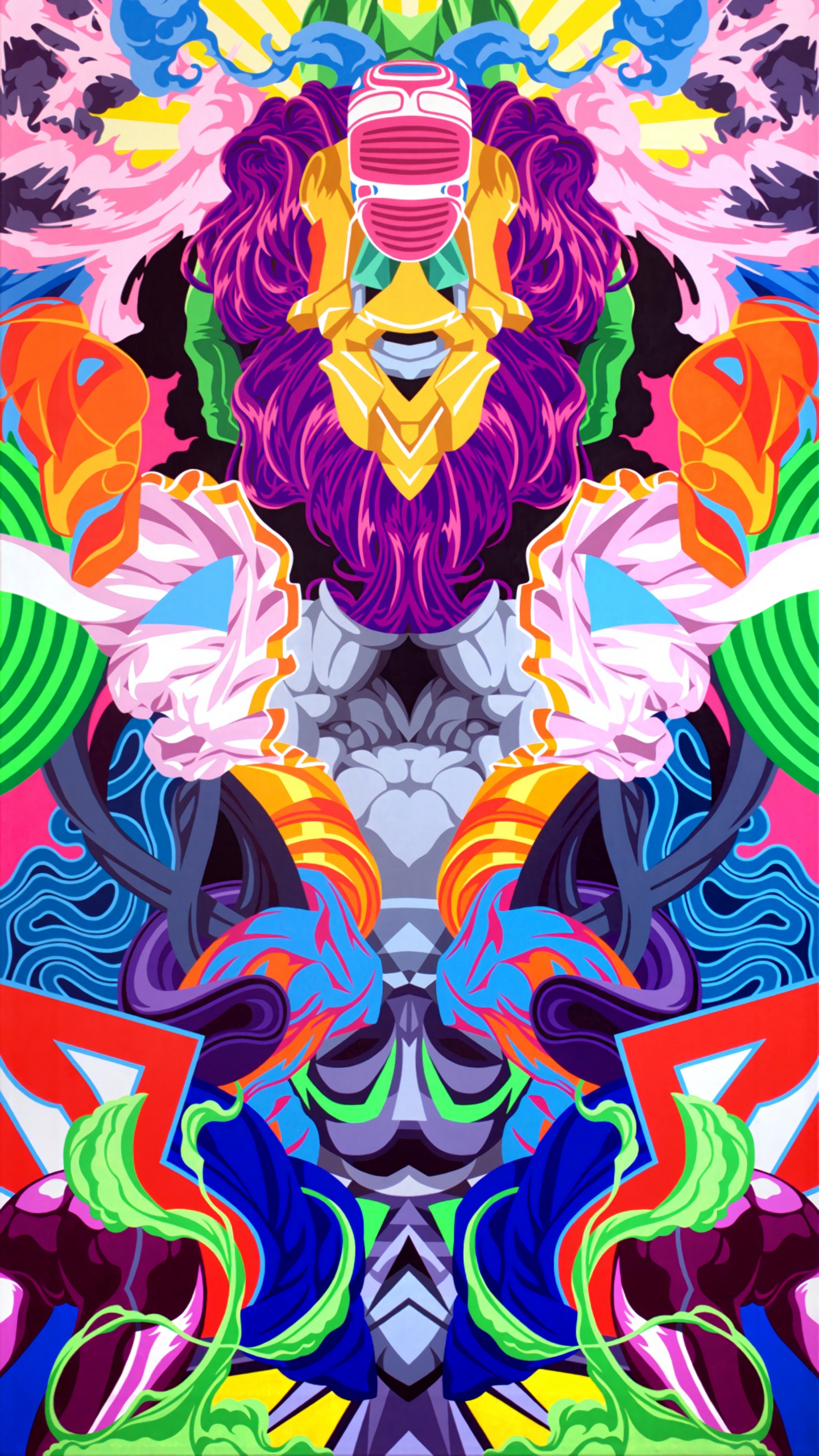 Wallpaper Patterns, Colorful, Abstract, Art - Psychedelic Wallpaper Iphone X - HD Wallpaper