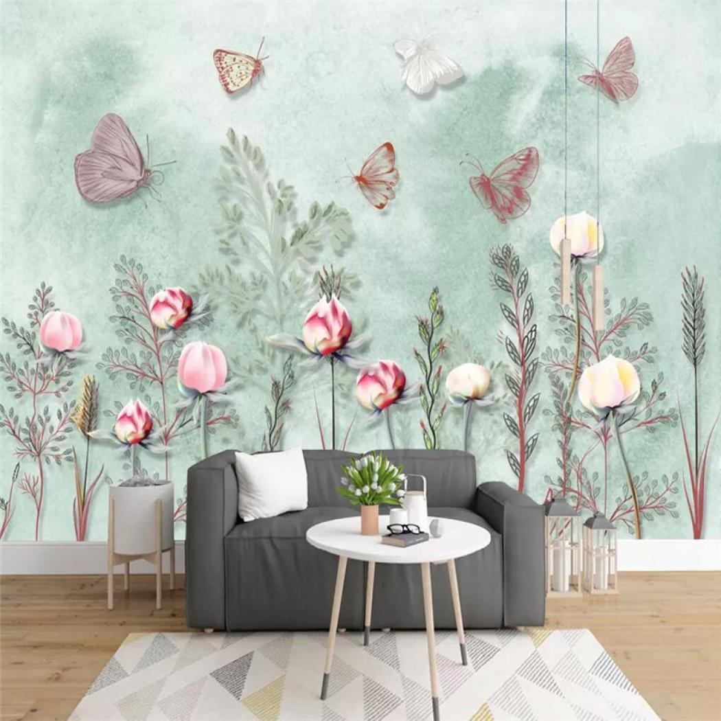 Compare Nordic Small Fresh Hand Painted Watercolor - Minimalist Building Mural - HD Wallpaper
