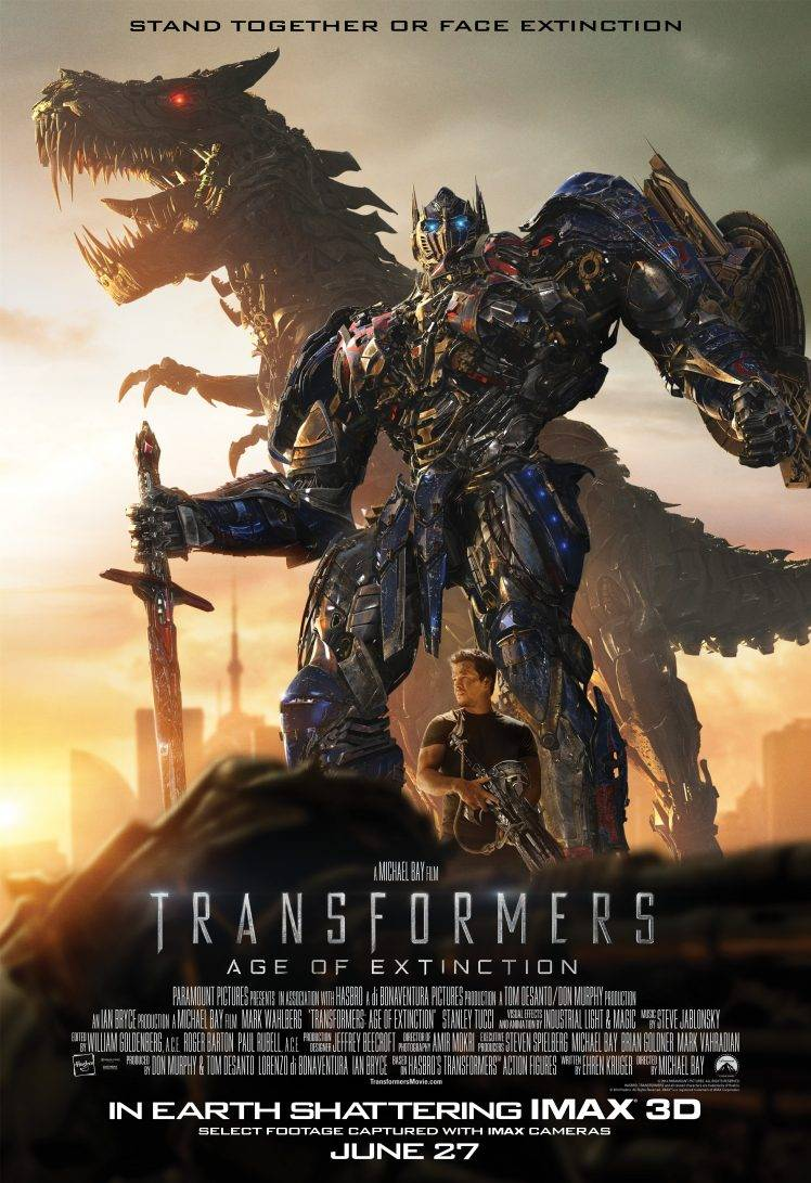 Transformers Age Of Extinction Movie Poster - HD Wallpaper