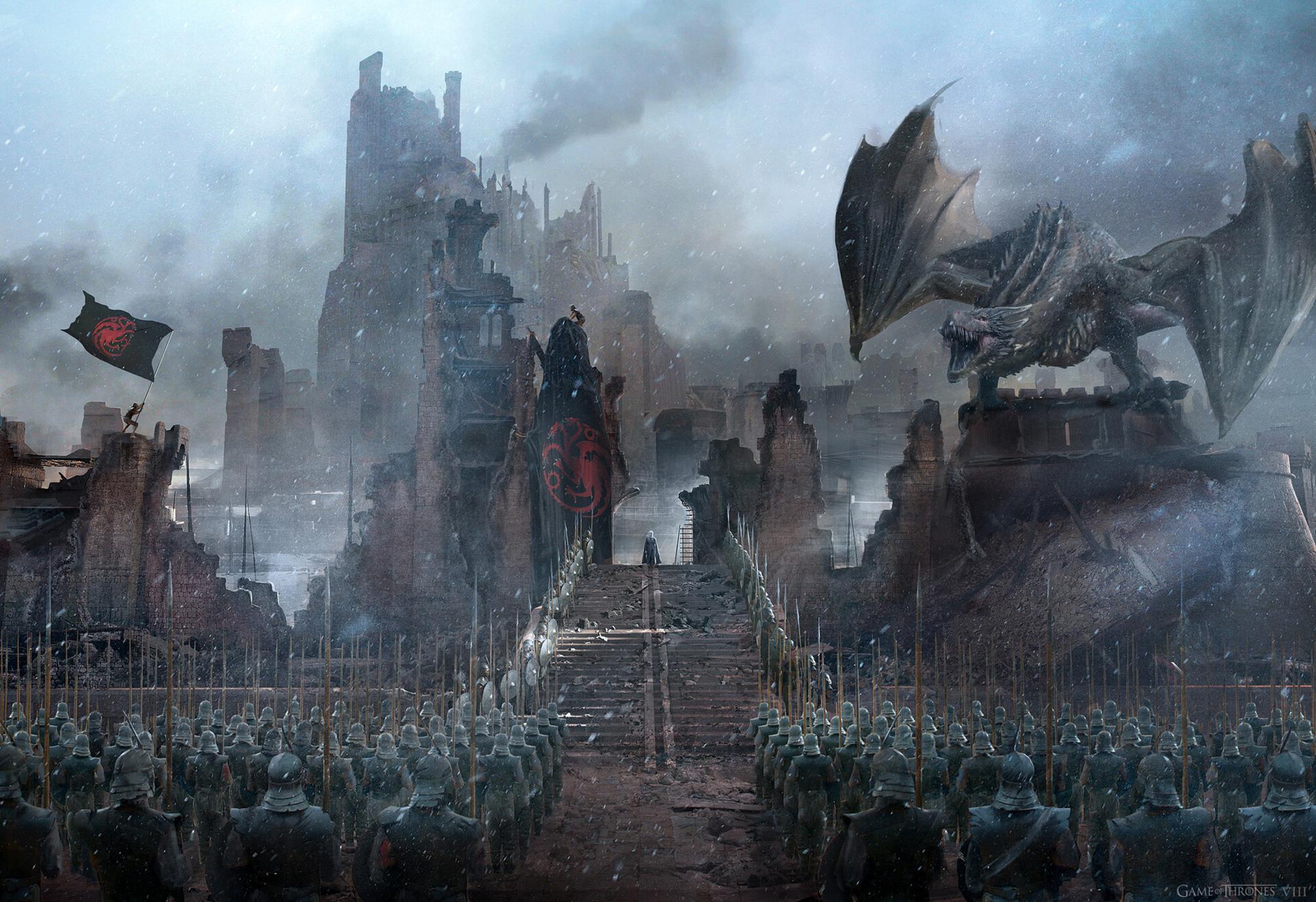 Game Of Thrones Season 8 Concept Art - HD Wallpaper