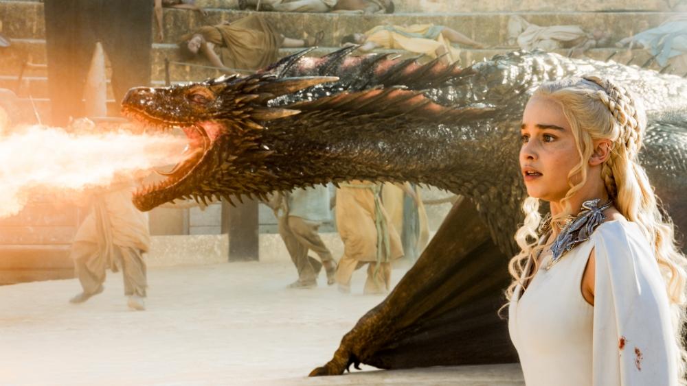 Game Of Thrones, Dragon, Emilia Clarke, Daenerys Targaryen, - Game Of Thrones S7 E4 - HD Wallpaper