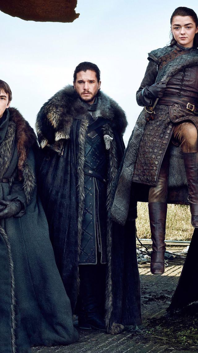 Game Of Thrones Season 7, Jon Snow, Arya Stark, Brandon - Season 7 Arya Stark - HD Wallpaper
