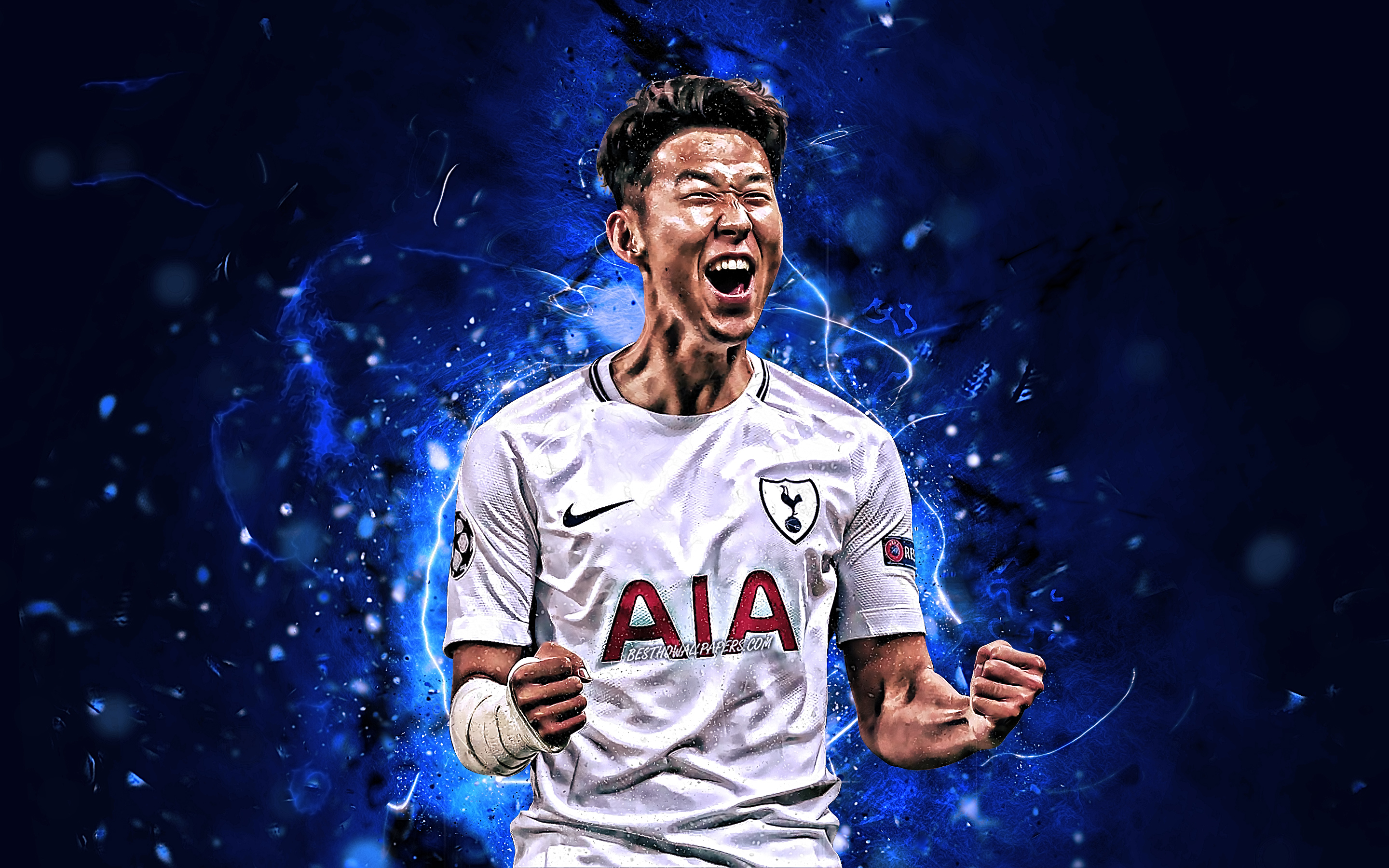 Son Heung Min Tottenham Hotspur Fc South Korean Footballers Heung Min Son Wallpaper Hd 2880x1800 Wallpaper Teahub Io