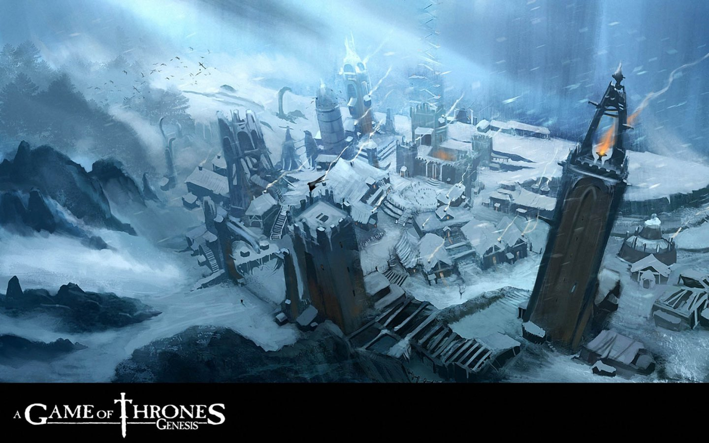 A Game Of Thrones Genesis Wallpaper - Castle Black In The Books - HD Wallpaper