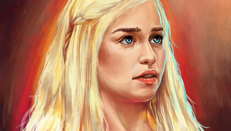 Emilia Clarke, Painting, Game Of Thrones, Daenerys - Epic 4k Game Of Thrones Wallpaper Daenerys - HD Wallpaper