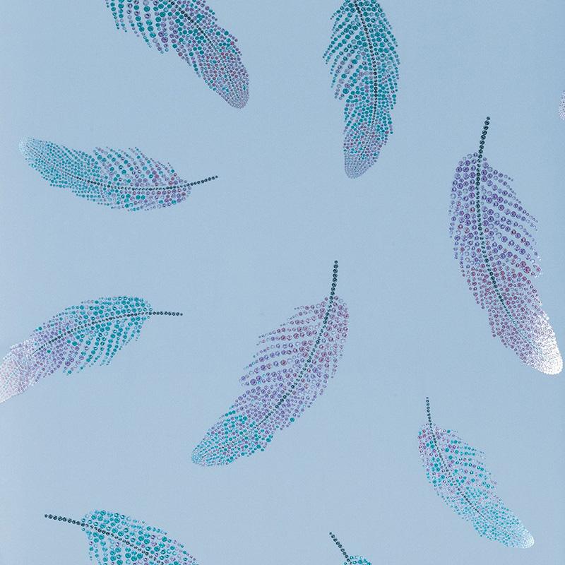 Osborne & Little Wallpaper - Matthew Williamson Feathers - HD Wallpaper