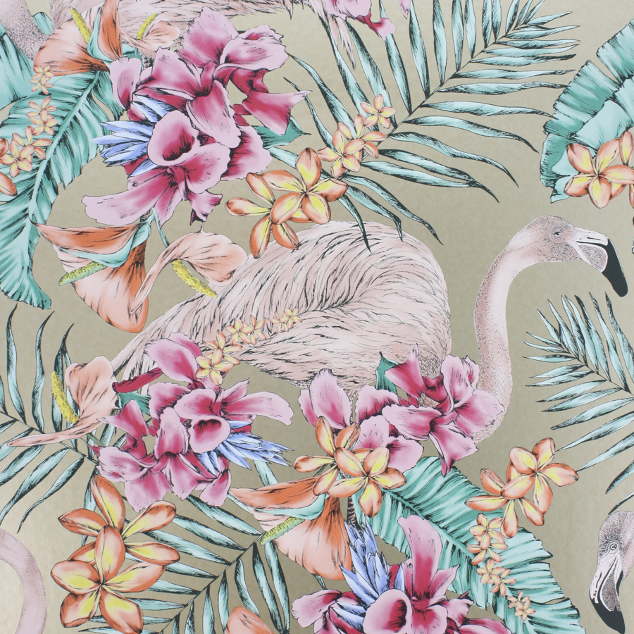 Osborne Little Wallpaper Flamingo Club - Cubana Matthew Williamson - HD Wallpaper