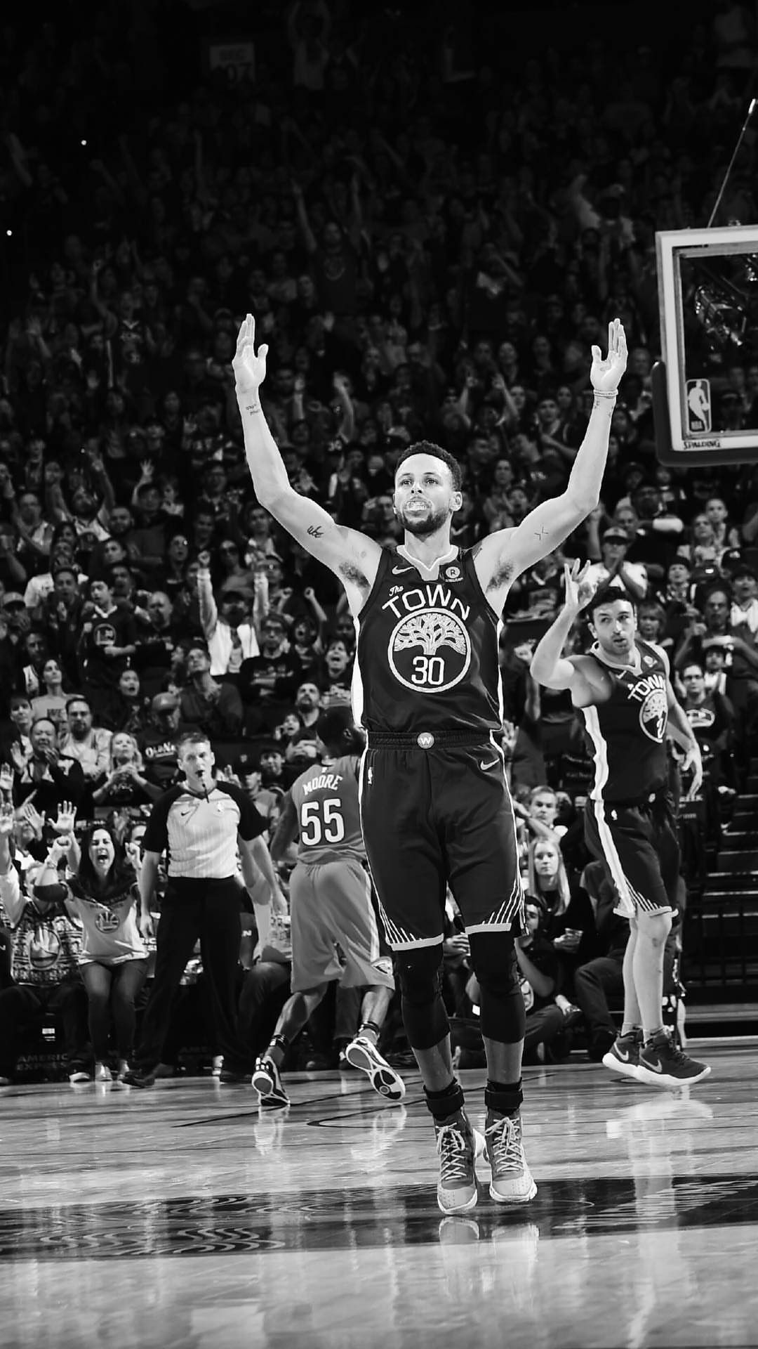 Stephen Curry Black And White 1080x1920 Wallpaper Teahub Io
