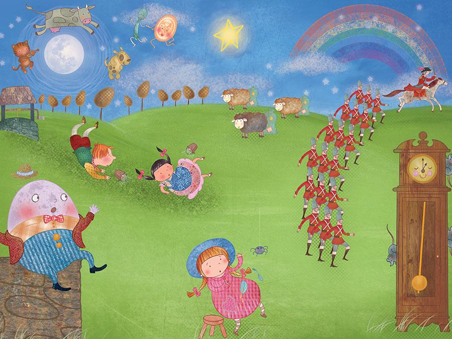 Pirate Mural Wallpaper Nursery Rhymes Mural 900x675 Wallpaper Teahub Io