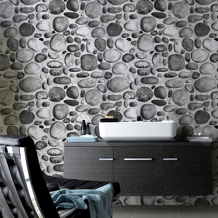River Stone Design Home Decoration Living Room 3d Wallpaper - Living Room Wall Paper Wallpaper Design For Home Wall - HD Wallpaper