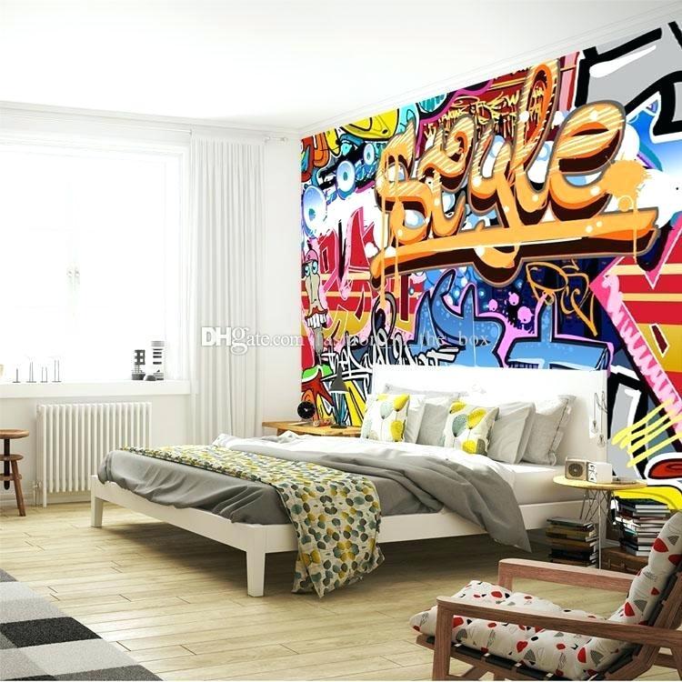 Graffiti Wallpaper For Boys Bedroom Urban Art Photo - Wall Print Design For Bedroom - HD Wallpaper