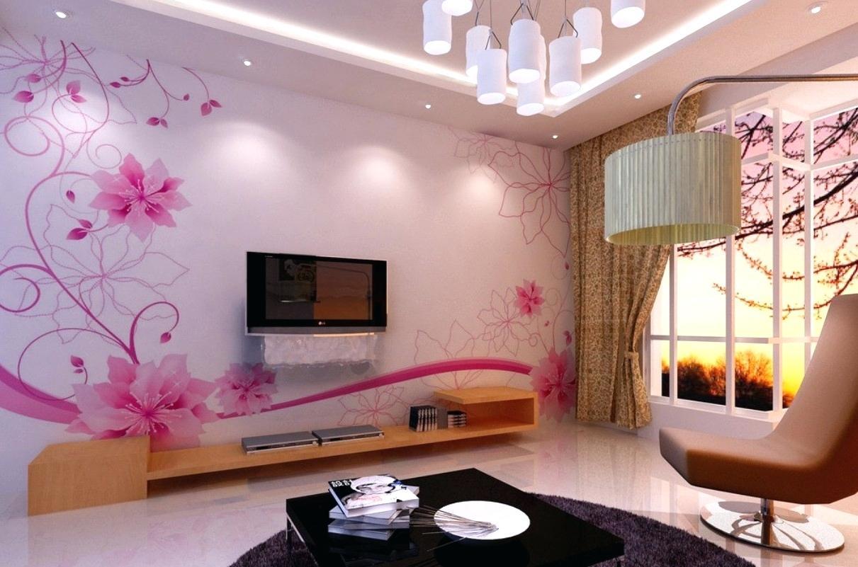 Living Room Wall Painting Design - HD Wallpaper