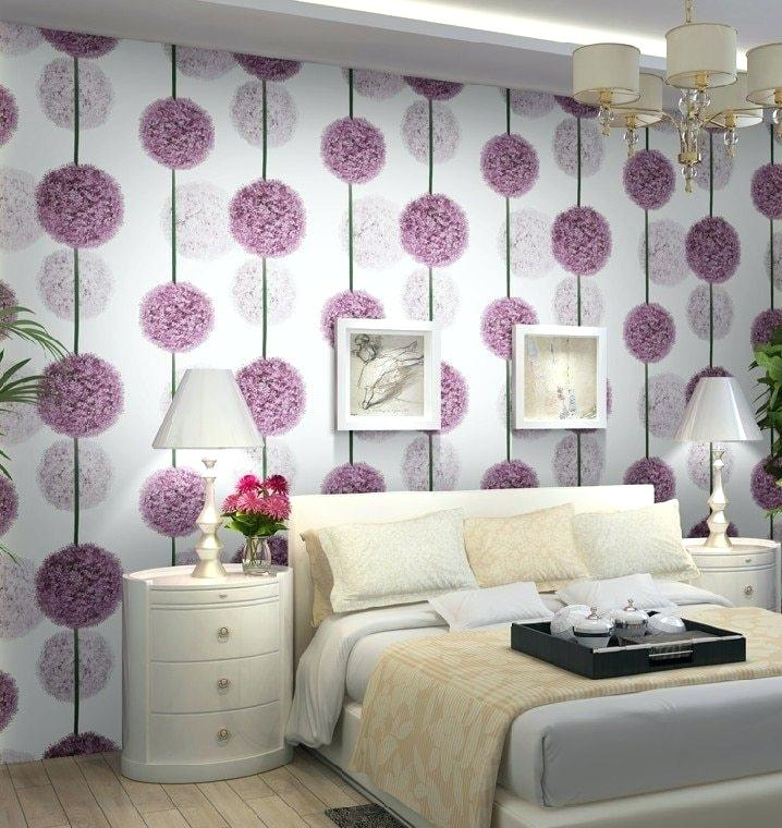 Wallpaper For Bedroom Walls Purple Flower Wallpaper - Bedroom Wall Paper Purple - HD Wallpaper