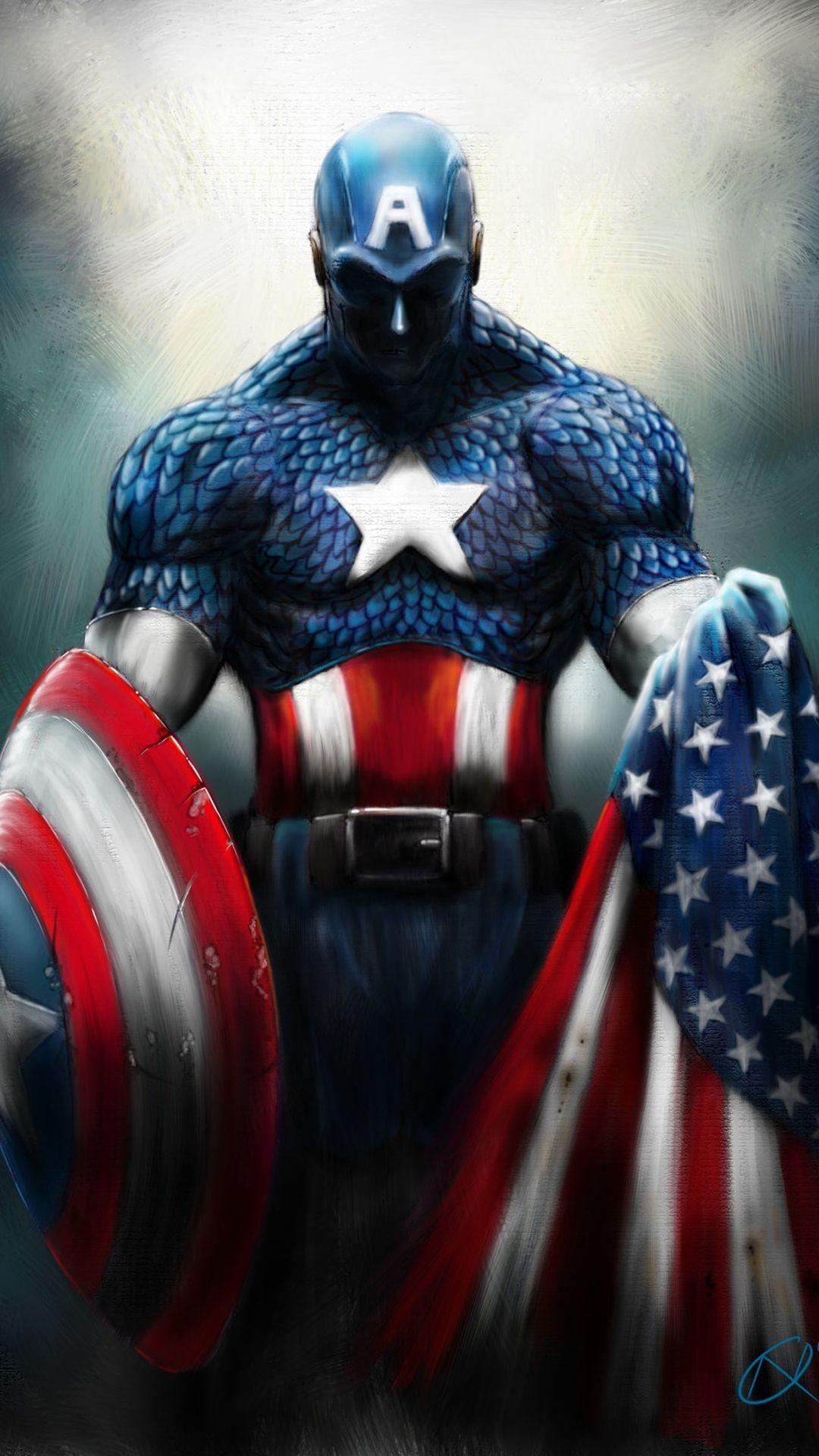 Wallpaper Iphone Captain America - HD Wallpaper