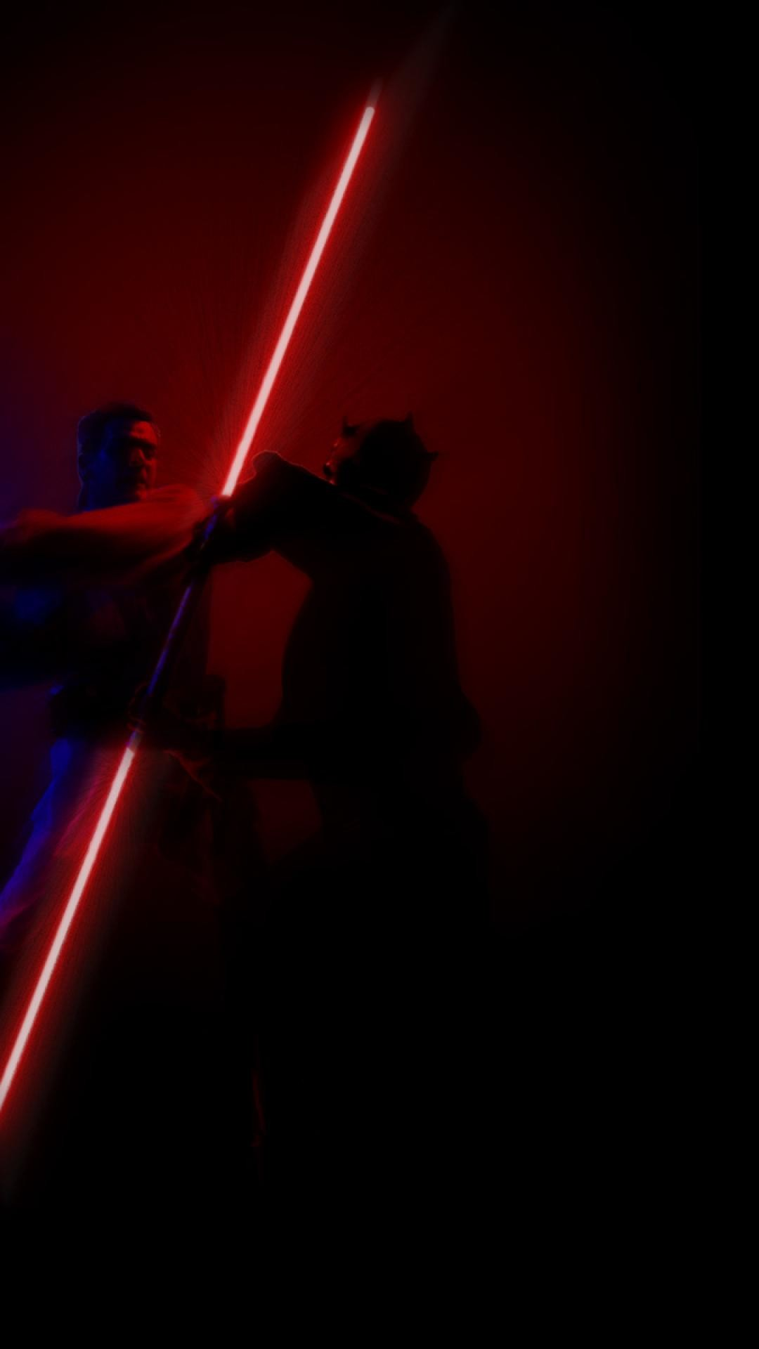 Star Wars Fight Darth Maul Lightsabers Obi Wan Kenobi Darth Maul Wallpaper Iphone 1080x1920 Wallpaper Teahub Io