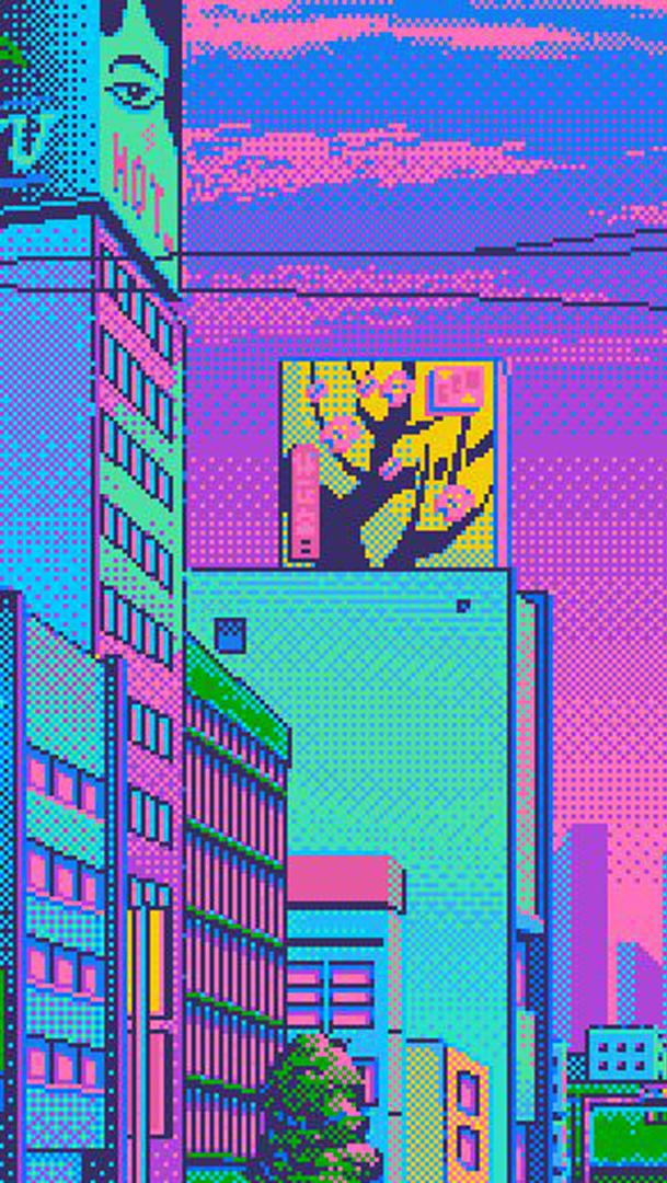 Pixel And Wallpaper Image Aesthetic Vaporwave Background Iphone 609x1080 Wallpaper Teahub Io