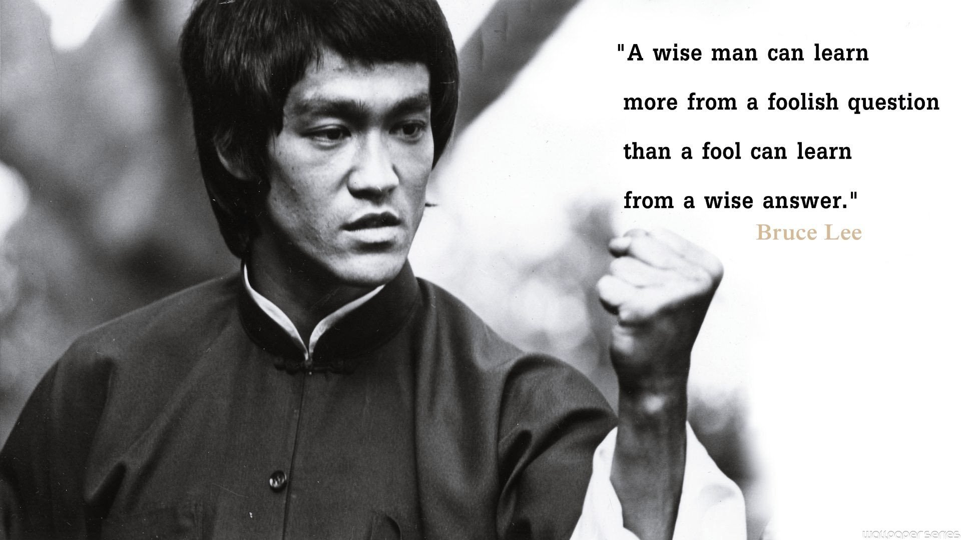 Bruce Lee Learn Quotes Wallpaper - Bruce Lee Quote Knowledge Will Give You Power - HD Wallpaper