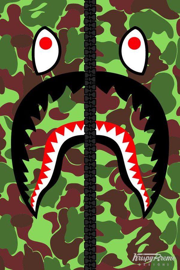 Bape Shark Wallpaper 3d - HD Wallpaper