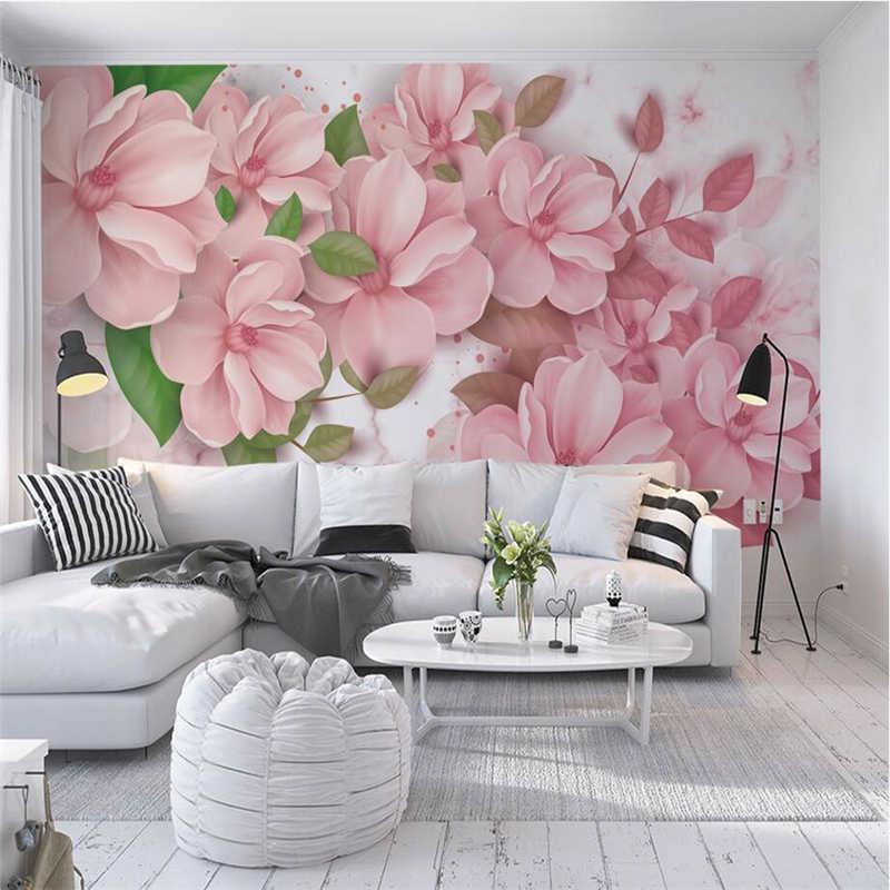 Baby Wallpaper Flower Wall Decor Free Desktop Wallpaper - Painted Wall Bedroom Murals - HD Wallpaper