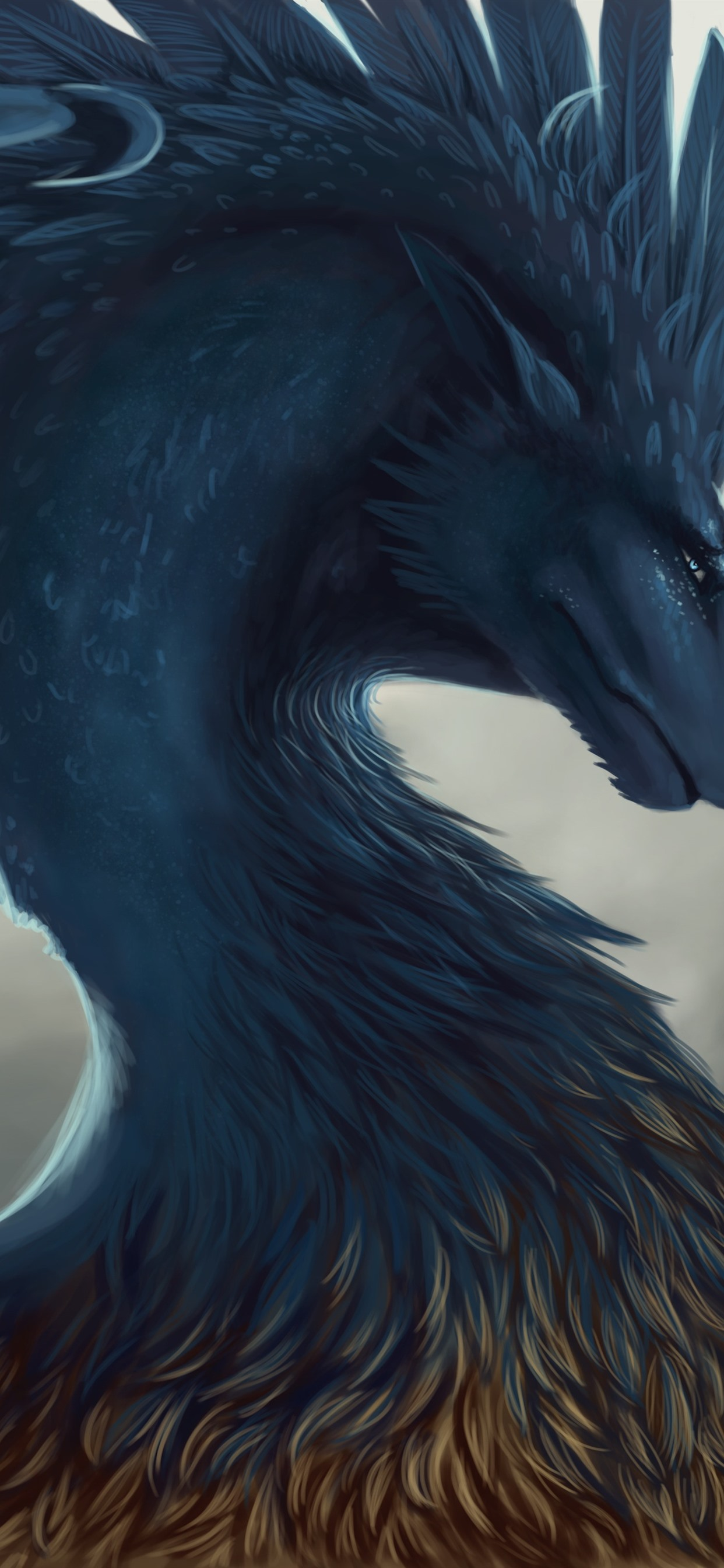 Iphone Wallpaper Dragon, Feathers, Art Picture - Iphone Xs Max Dragon - HD Wallpaper