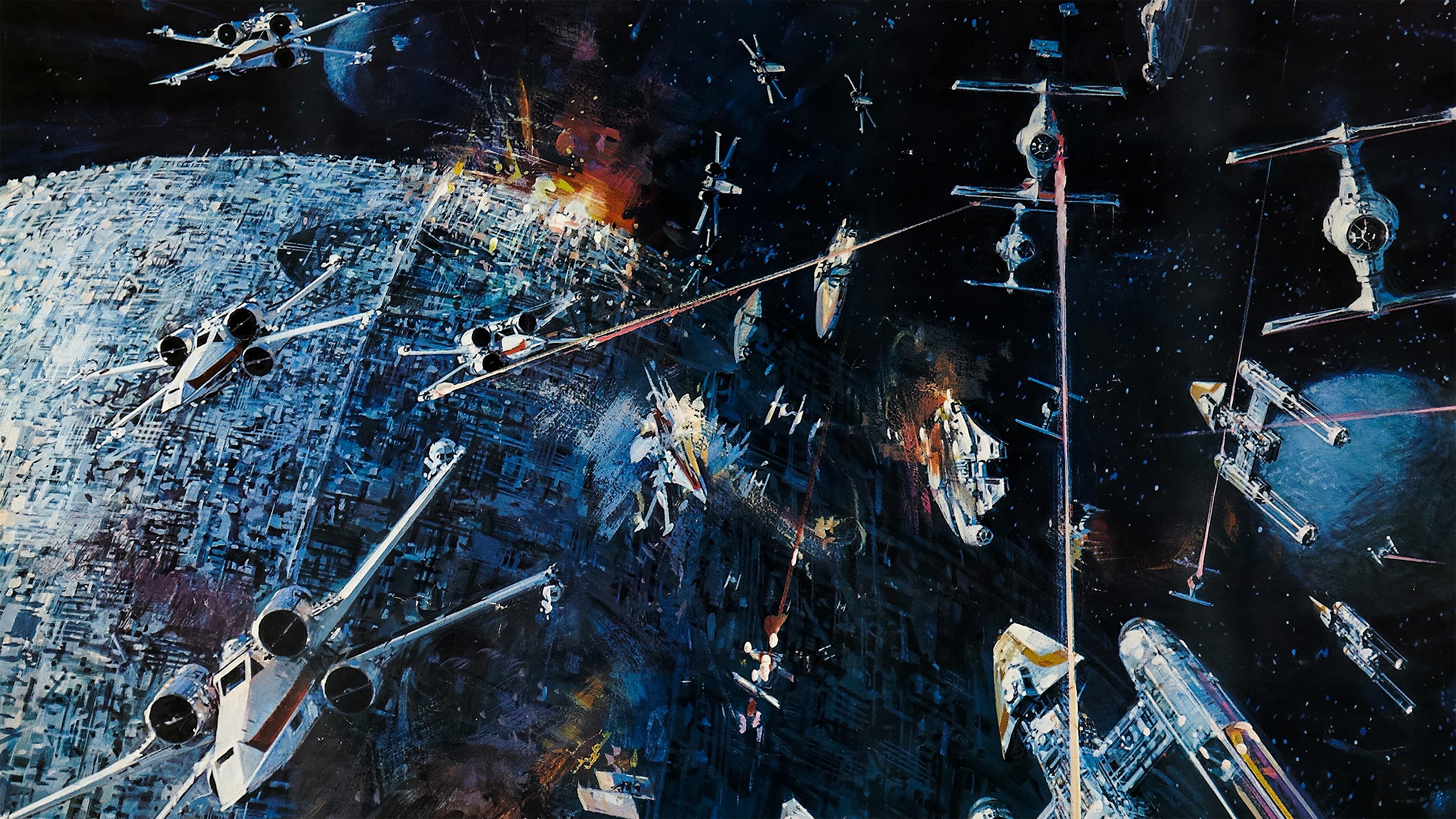 Star Wars Poster 4k 3840x2160 Wallpaper Teahub Io